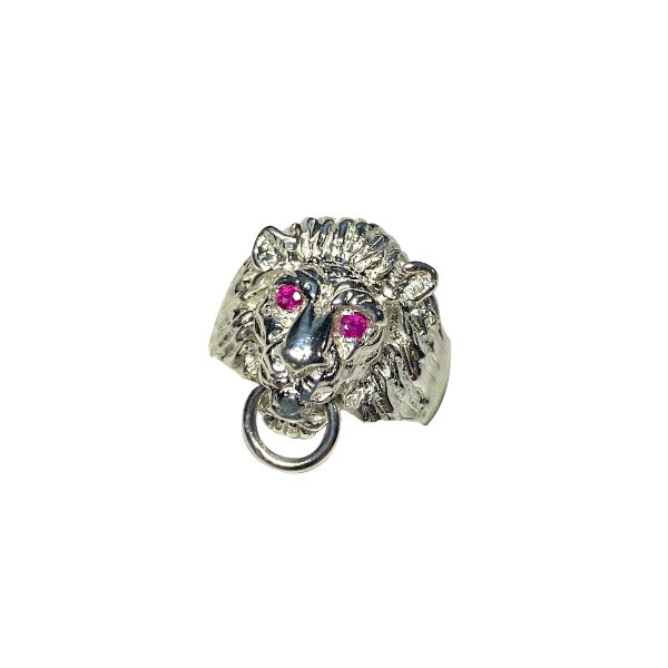 Lion Ring with Rubies