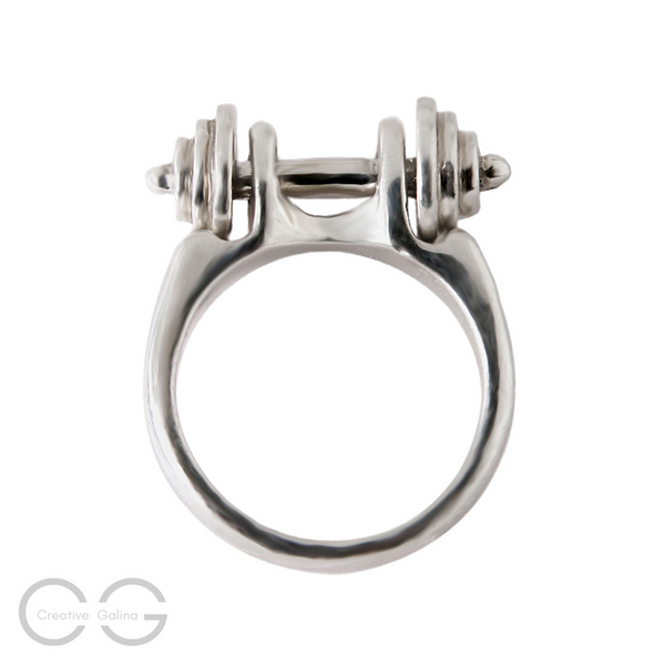 Dumbbell Jewelry Ring