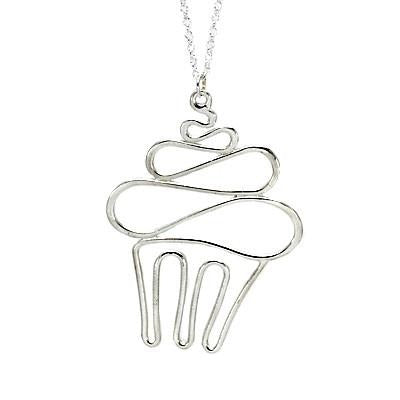 Cupcake Necklace Sterling Silver