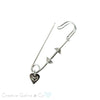 Dumbbell Jewelry Safety Pin