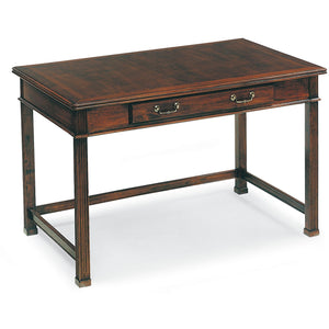 "Fairfield Mahogany Finish Table Desk 44""W x 28""D-Ships Free in 9 Weeks"