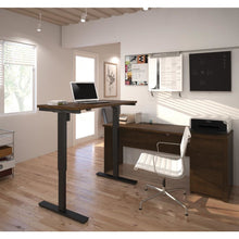 Desk - Bestar Electric Height Adjustable Standing Desk With Seated Desk
