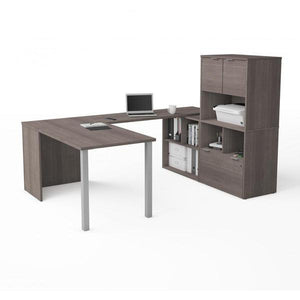 Desk - Bestar U-shaped Executive Desk With Hutch