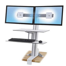 Desk - Ergotron WorkFit-S Sit/Stand Workstation For Dual Monitors