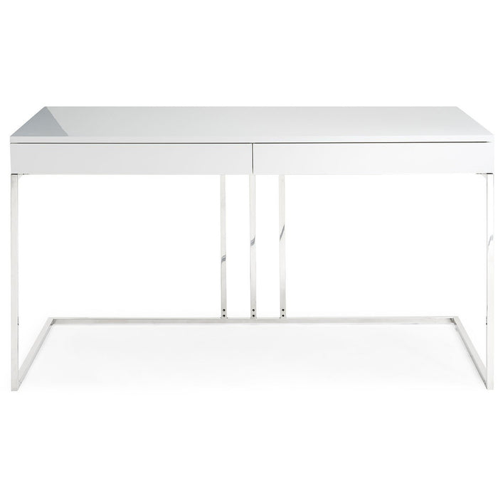 The Sabine Desk from Whiteline in White Lacquer