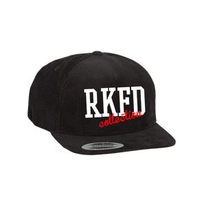 RKFD  Corduroy Snapback (Black/Red)