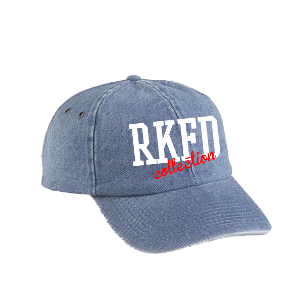 RKFD Denim Cap (White/Red)