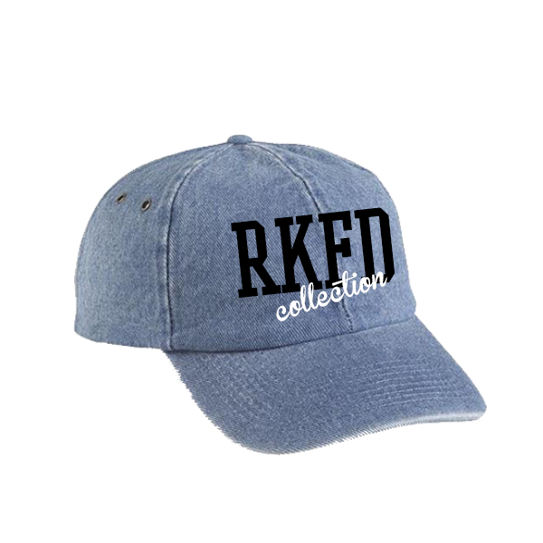 RKFD Denim Cap (Black/White)
