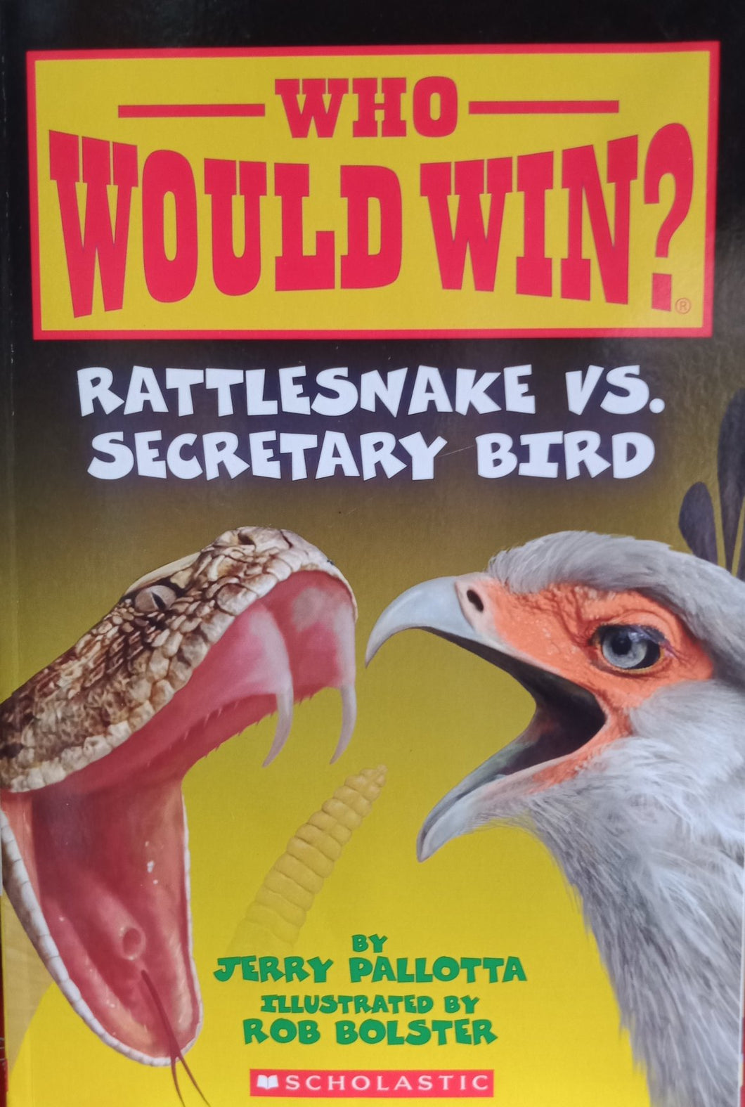 Rattlesnake vs secretary bird by jerry pallotta