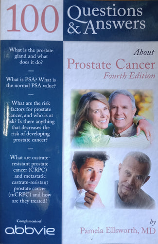 100 Questions And Answers About Prostate Cancer Fourth Edition by Pamela Ellsworth
