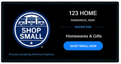 American Express Shop Small Business Campaign 123home #ShopSmallAU