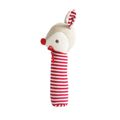 Alimrose | Rudolph Christmas Squeaker in Red Stripe