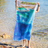 Destination Towels | Sand Free Lightweight Beach Yoga Towel - Coogee Corner, Coogee Beach, Sydney, Australia