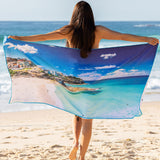 Destination Towels | Sand Free Lightweight Beach Yoga Towel - Saturday Clarity, Tamarama Beach, Sydney, Australia