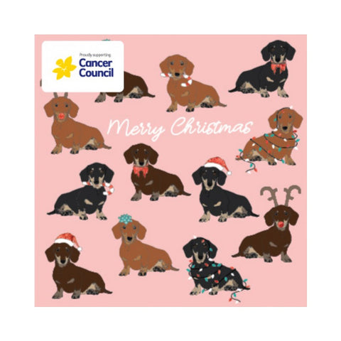 Candle Bark Creations | Dachshund Christmas Gift Card Box Set/10