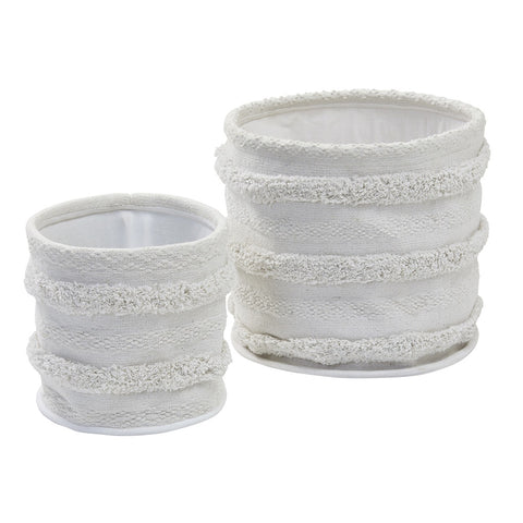 Amalfi | Sheba White Fabric Storage Baskets Set/2
