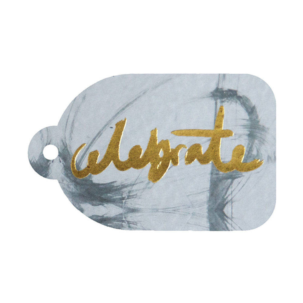 Rachel Kennedy Designs | Celebrate Gold Foil Swing Tag