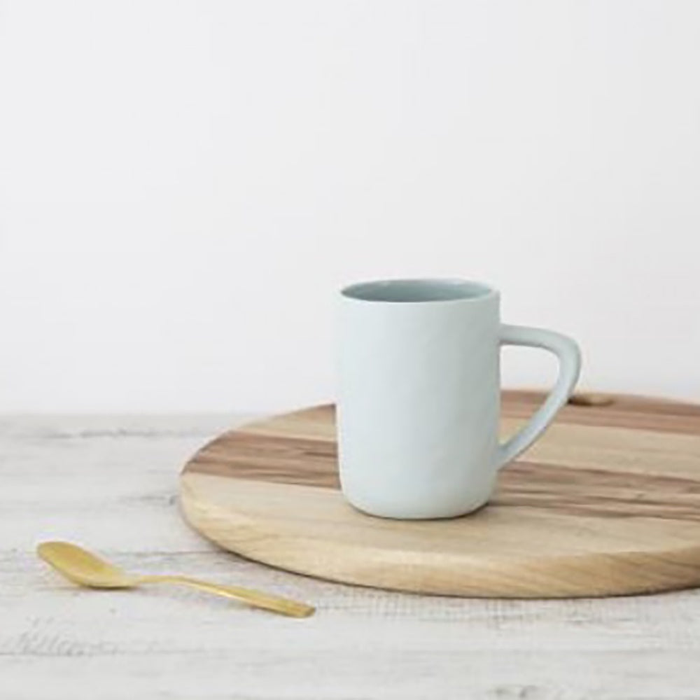 Ivory House | Flax Large Coffee Tea Mug in Duck Egg Blue