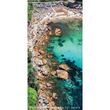 Destination Towels | Sand Free Lightweight Beach Yoga Towel - Hot Rocks, Gordons Bay, Sydney, Australia