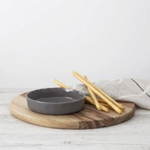 Ivory House | Flax Tapas Bowl Large in Charcoal Grey