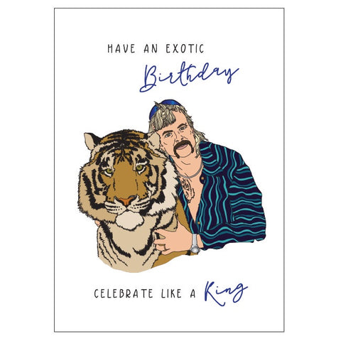 Candle Bark Creations | Jo Exotic Tiger King Birthday Gift Card