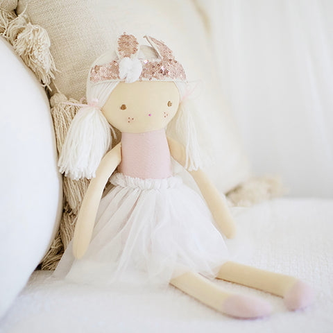 Alimrose Designs | Sienna Doll with Bunny Crown in Pale Pink