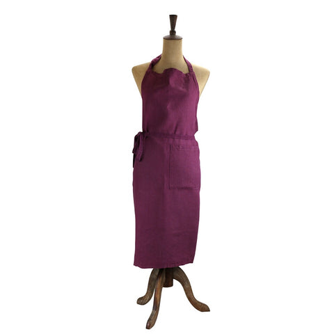 Raine & Humble | Linen Apron in Aubergine Purple