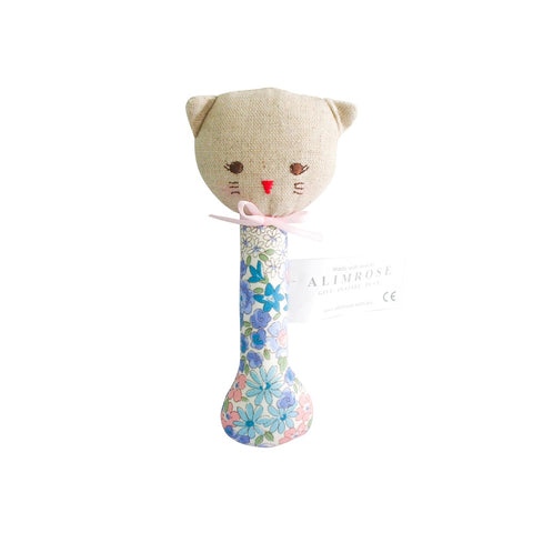 Alimrose Designs | Odette Kitty Stick Rattle in Liberty Blue