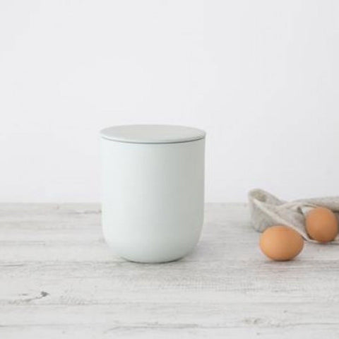Ivory House | Large Matte Flax Jar with Lid in Duck Egg Blue