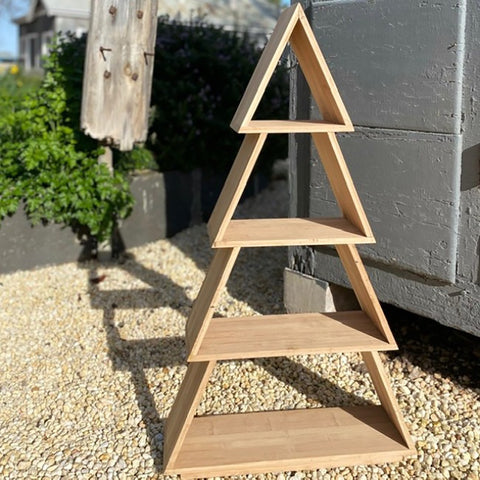Ivory House | Timber Christmas Tree Display Shelf
