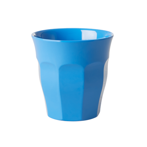 Rice | Solid Coloured Medium Melamine Cup in Ocean Blue