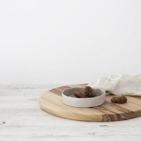 Ivory House | Flax Ceramic Small Tapas Bowl in Grey