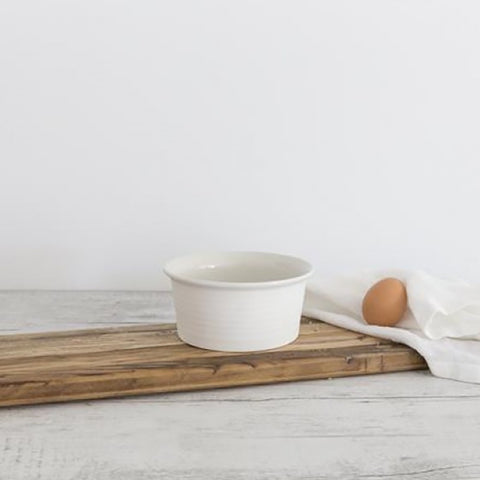 Ivory House | Flax Ceramic Ramekin Bowl in Snow White