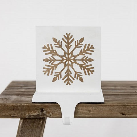 Ivory House | Snowflake Mantle Christmas Stocking Hanger