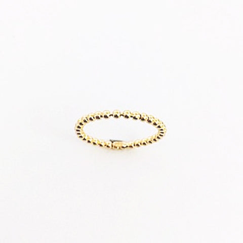 Beaded Thin Ring - Gold