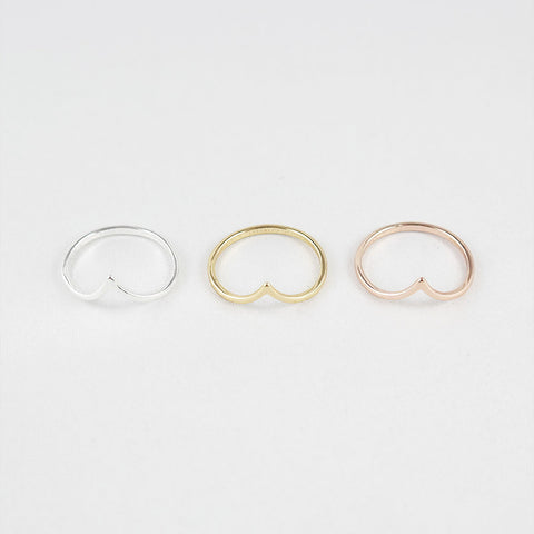 sophari | Point thin ring in silver, 18k gold or rose gold plated