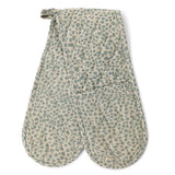 Raine & Humble | Double Oven Glove Mitt in Cheetah Blue
