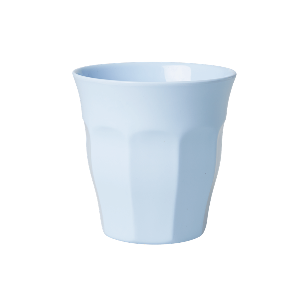 Rice | Solid Coloured Medium Melamine Cup in soft blue
