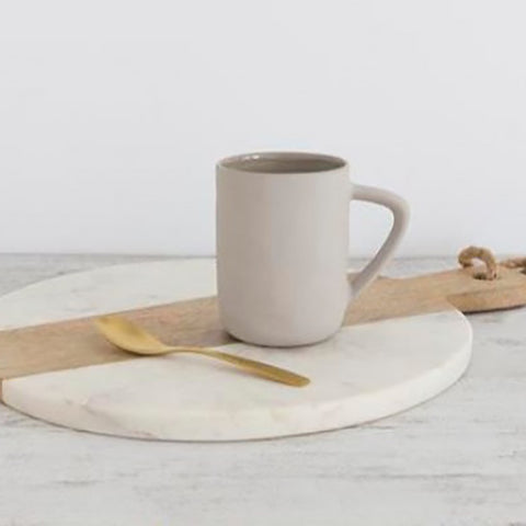 Ivory House | Flax Ceramic Coffee Mug in Grey