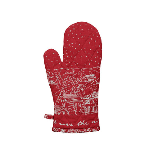 Raine & Humble | The Night Before Christmas Oven Glove in Red