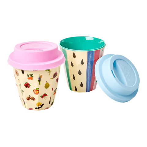 RICE | Silicone Coffee Tea Lids for Small Kids RICE Melamine Cups