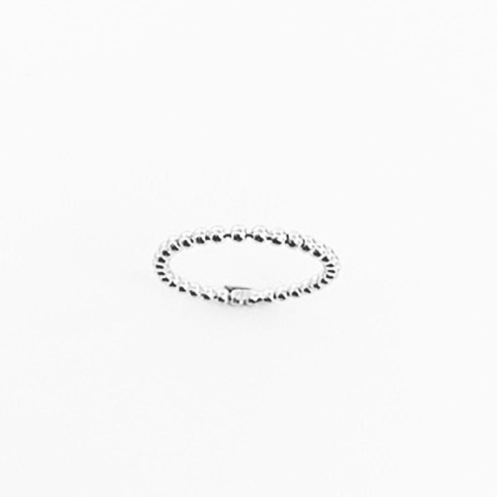 123home | Sterling Silver Beaded Thin Ring