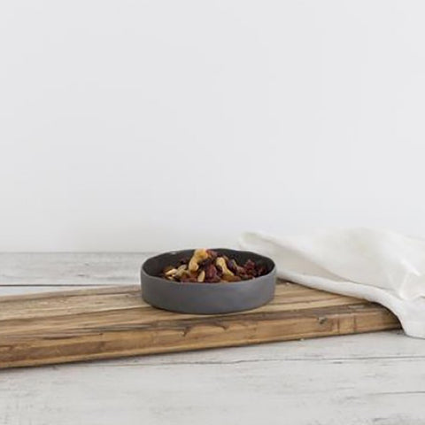 Ivory House | Flax Ceramic Small Tapas Bowl in Charcoal Grey