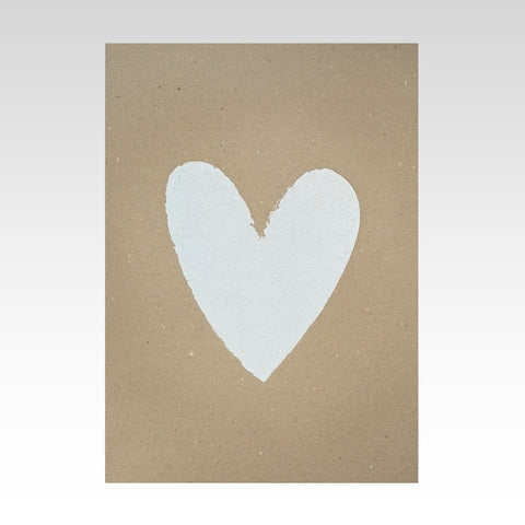 Rhicreative | White Heart A3 Wall Print on Enviroboard