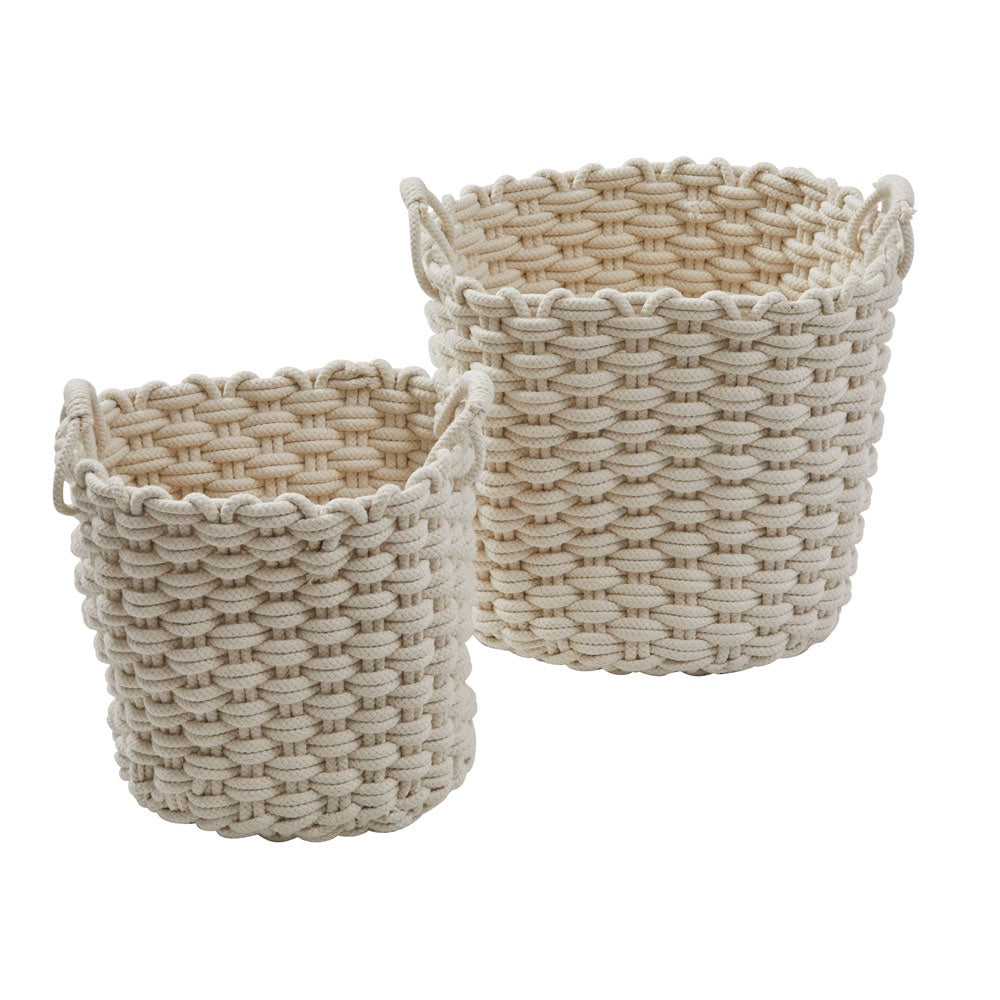 Amalfi | Amara White Rope Storage Baskets Set of 2