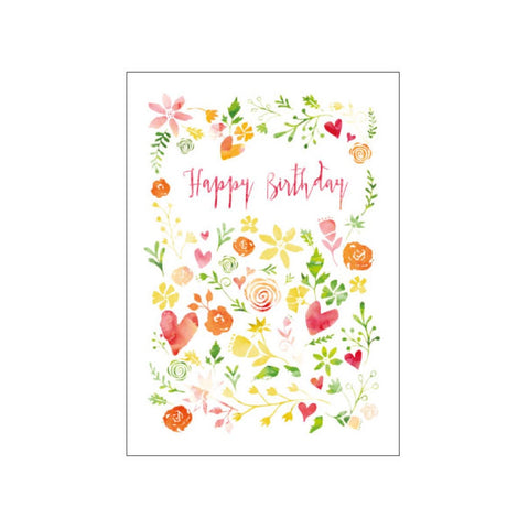 Candle Bark Creations | Field of Flowers Birthday Watercolour Gift Card