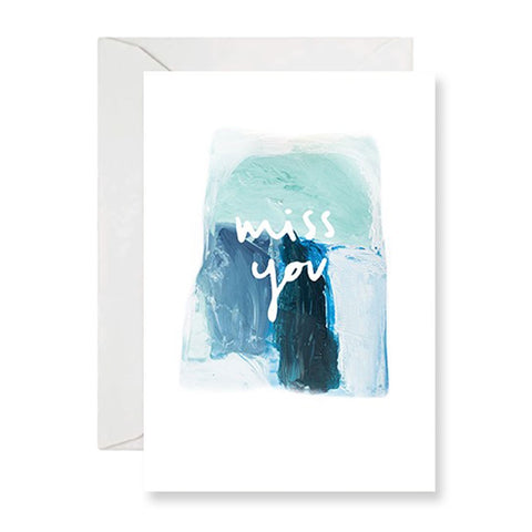 Rachel Kennedy Designs | Miss You Watercolour Gift Card