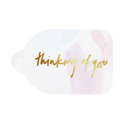 Rachel Kennedy Designs | Thinking of You Gold Foil Swing Tag