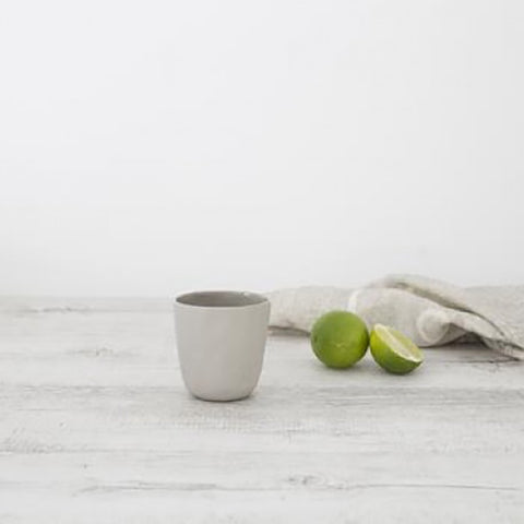 Ivory House | Flax Ceramic Short Coffee Cup in Grey