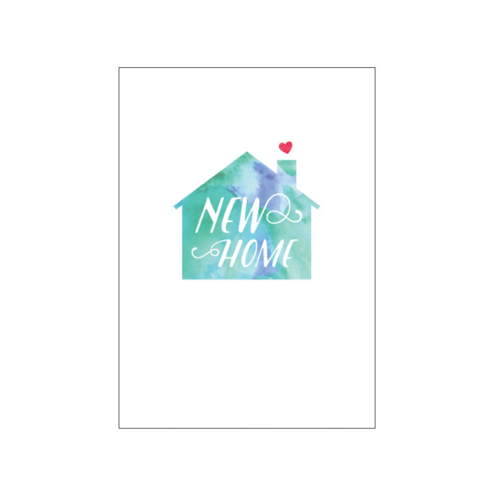 Candle Bark Creations | New Home Watercolour Gift Card